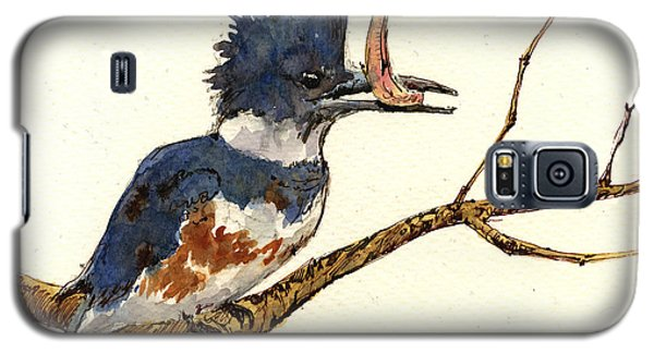 Belted Kingfisher Bird Galaxy S5 Case by Juan  Bosco