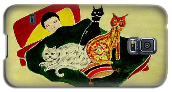 Ben And The Cats Galaxy S5 Case by Veronica Rickard