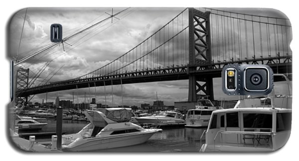 Galaxy S5 Case featuring the photograph Ben Franklin Bridge by Dorin Adrian Berbier
