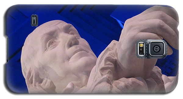 Galaxy S5 Case featuring the photograph Ben Franklin In Blue I by Richard Reeve