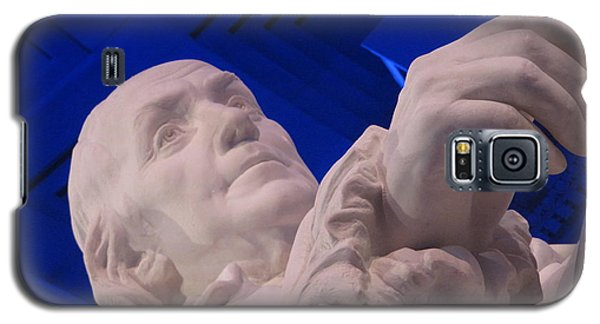 Ben Franklin In Blue I Galaxy S5 Case by Richard Reeve