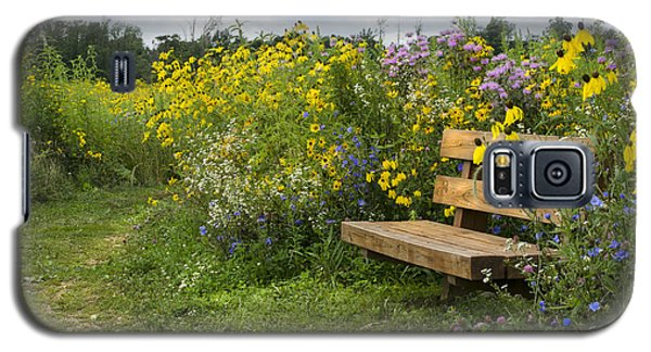 Bench And Meadow Galaxy S5 Case