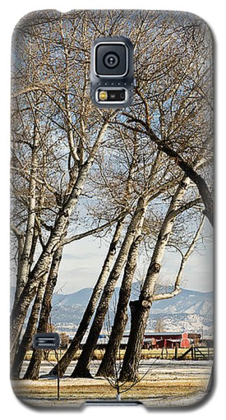 Galaxy S5 Case featuring the photograph Bench With A View by Sue Smith