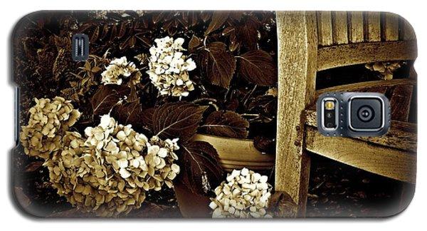 Bench With Hydrangeas Galaxy S5 Case