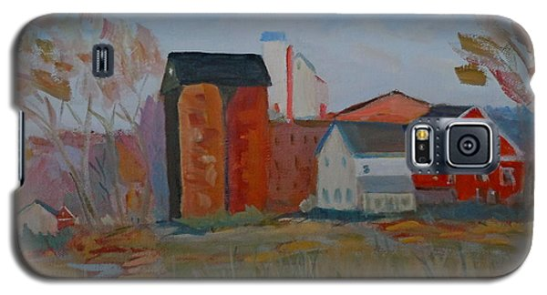 Galaxy S5 Case featuring the painting Benfield's Mill by Francine Frank