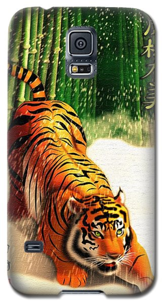 Bengal Tiger In Snow Storm  Galaxy S5 Case by John Wills