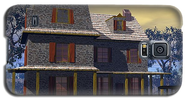 Galaxy S5 Case featuring the digital art Benjamin Cooper House - 1734 by John Pangia