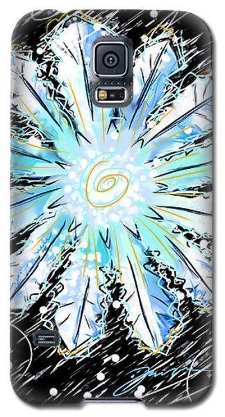 Galaxy S5 Case featuring the painting Benjamin Snowflake by Jean Pacheco Ravinski