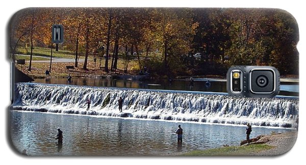 Galaxy S5 Case featuring the photograph Bennett Springs Spillway by Sara  Raber