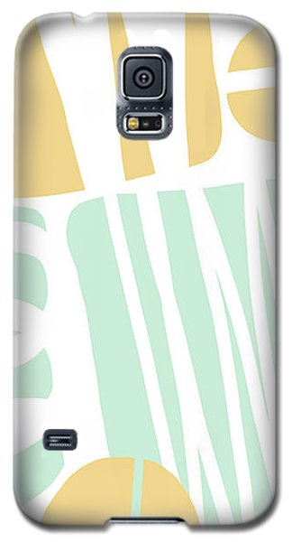 Bento 1- Abstract Shape Painting Galaxy S5 Case by Linda Woods