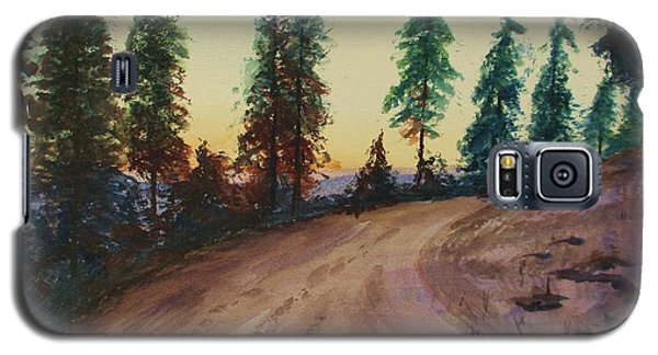 Galaxy S5 Case featuring the painting Bergebo Forest by Martin Howard