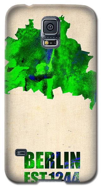 Berlin Galaxy S5 Case - Berlin Watercolor Map by Naxart Studio