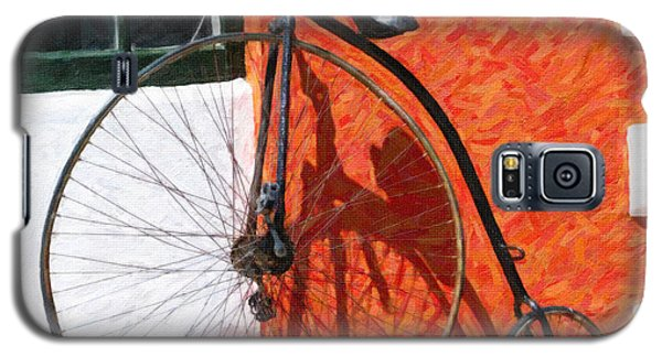 Galaxy S5 Case featuring the photograph Bermuda Antique Bicycle by Verena Matthew