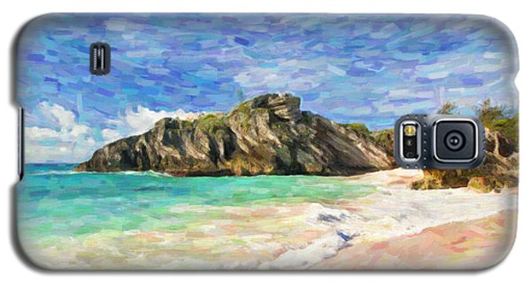 Galaxy S5 Case featuring the digital art Bermuda Beach by Verena Matthew
