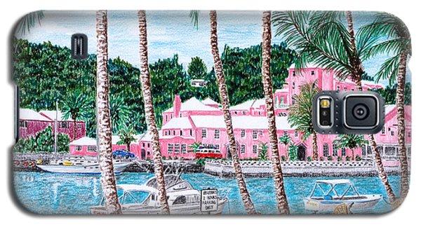 Bermuda Pink Hotel Galaxy S5 Case by Val Miller