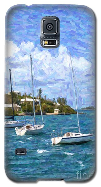 Galaxy S5 Case featuring the photograph Bermuda Sailboats by Verena Matthew