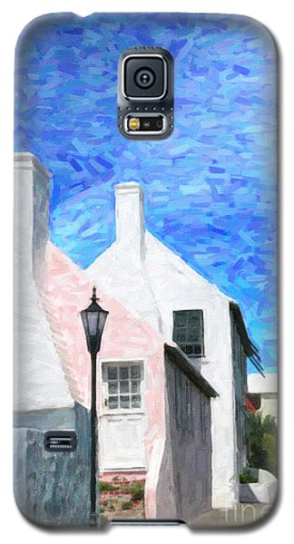 Galaxy S5 Case featuring the photograph Bermuda Side Street by Verena Matthew