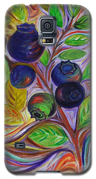 Galaxy S5 Case featuring the painting Berry Bush by Cynthia Lagoudakis
