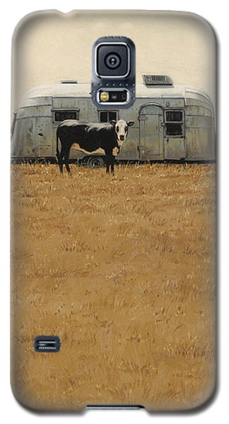 Galaxy S5 Case featuring the painting Bessie Wants To Travel by Ron Crabb