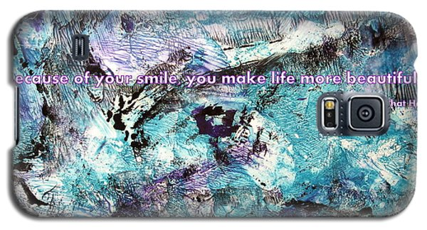 Besso Monotype Smile Galaxy S5 Case by Marlene Rose Besso