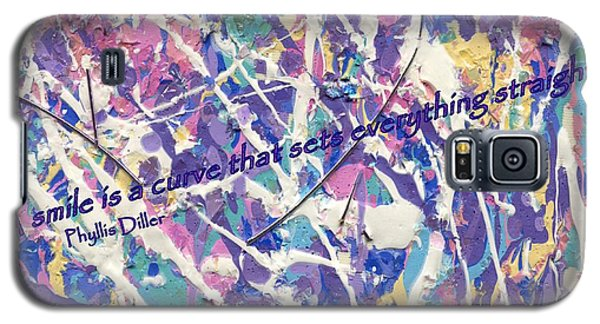 Besso Pollock Smile Quotes Galaxy S5 Case by Marlene Rose Besso