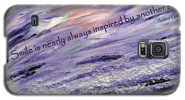 Besso Tsunami Smile Quote Galaxy S5 Case by Marlene Rose Besso