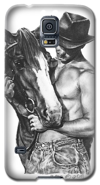 Galaxy S5 Case featuring the drawing Best Buds by Marianne NANA Betts