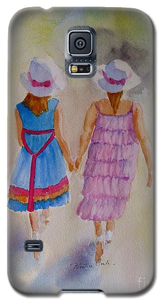 Galaxy S5 Case featuring the painting Best Friends by Beatrice Cloake