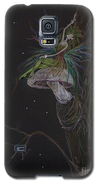 Galaxy S5 Case featuring the drawing Best Seat In The House by Dawn Fairies