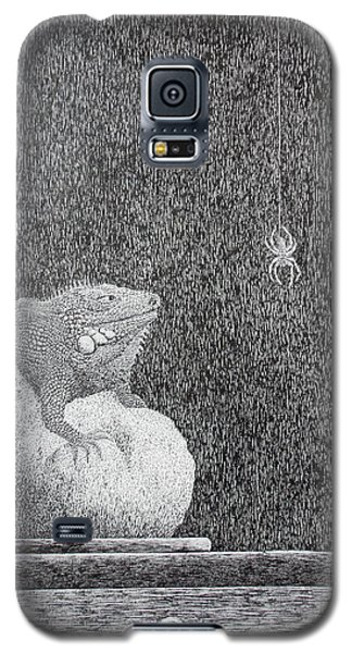Galaxy S5 Case featuring the painting Bestilled Life by A  Robert Malcom