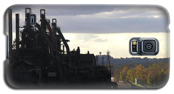 Bethlehem Steel On The Lehigh River Galaxy S5 Case by Jacqueline M Lewis