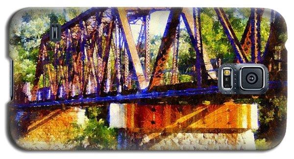 Train Trestle Bridge Galaxy S5 Case by Janine Riley
