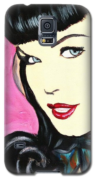 Bettie Page Pop Art Painting Galaxy S5 Case