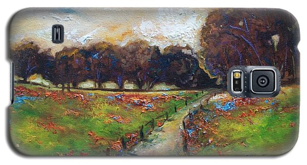 Galaxy S5 Case featuring the painting Between by Emery Franklin