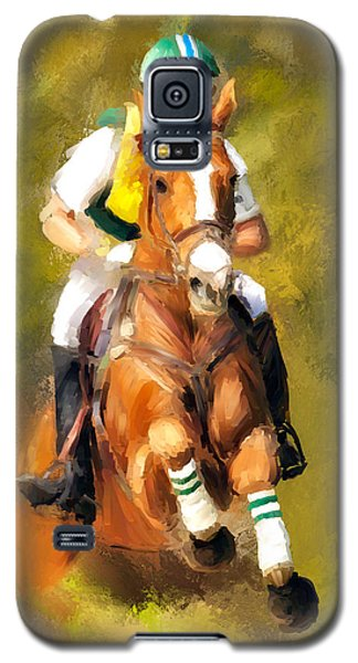 Galaxy S5 Case featuring the photograph Between The Flags by Joan Davis