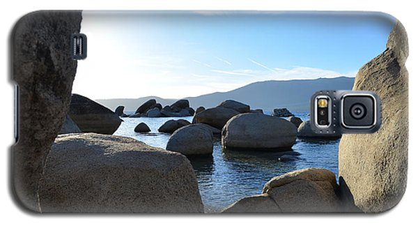 Between The Rocks At Lake Tahoe Galaxy S5 Case by Alex King