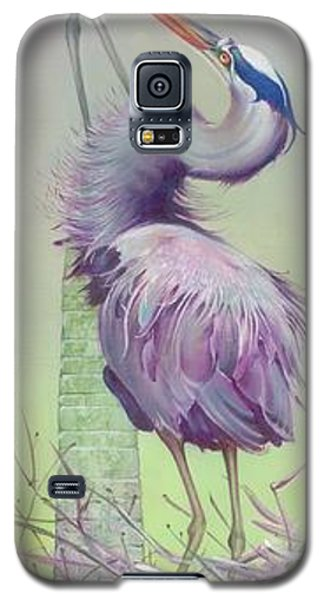 Galaxy S5 Case featuring the painting Between The Worlds by Anna Ewa Miarczynska