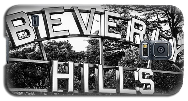 Beverly Hills Sign In Black And White Galaxy S5 Case by Paul Velgos