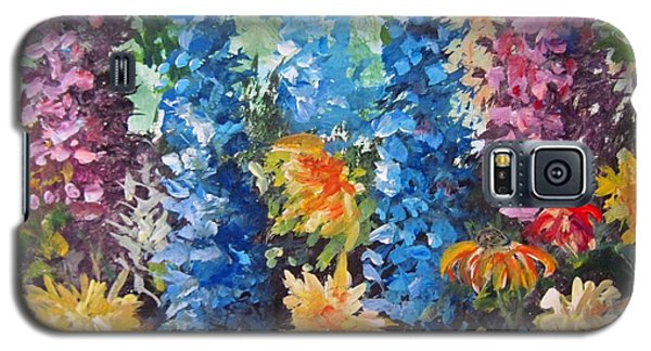 Galaxy S5 Case featuring the painting Bev's Garden by Megan Walsh