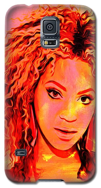Galaxy S5 Case featuring the painting Beyonce by Brian Reaves