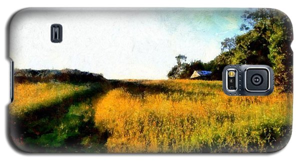 Galaxy S5 Case featuring the photograph Beyond The Hill  by Janine Riley