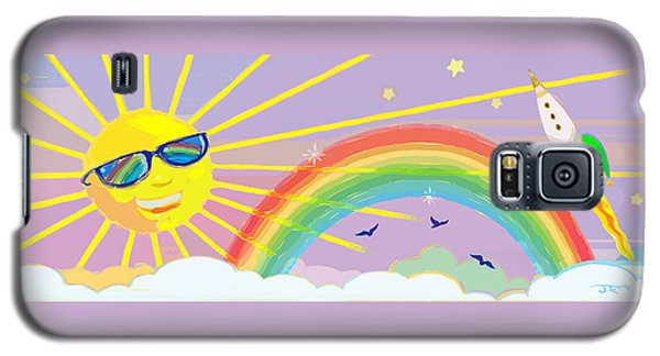 Galaxy S5 Case featuring the mixed media Beyond The Rainbow by J L Meadows