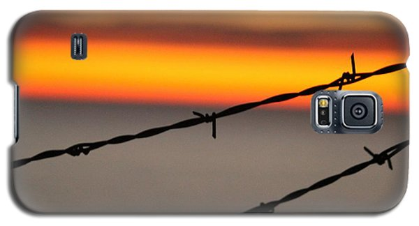 Galaxy S5 Case featuring the photograph Beyond The Wire by Amy Gallagher