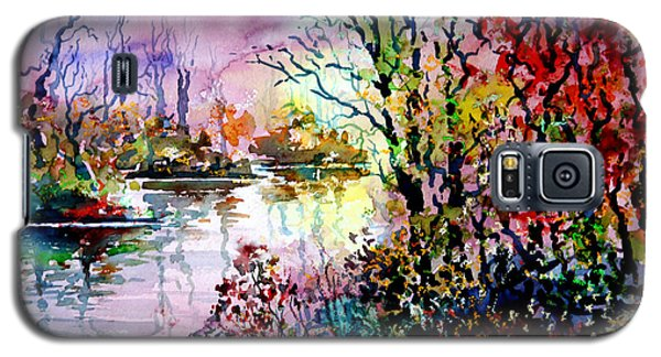 Galaxy S5 Case featuring the painting Beyond Tree And Pond by Alfred Motzer