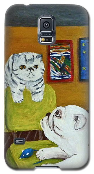 Galaxy S5 Case featuring the painting Bffs by Victoria Lakes
