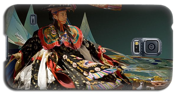Galaxy S5 Case featuring the digital art Bhutanese Dancer by Angelika Drake