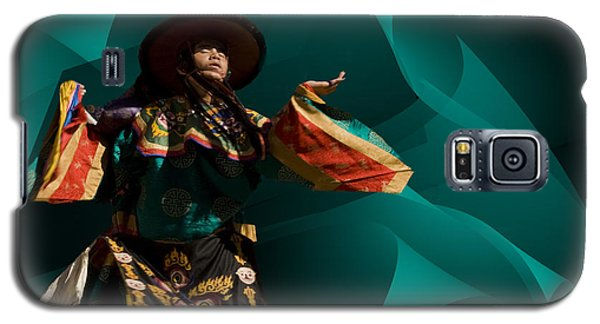 Galaxy S5 Case featuring the digital art Bhutanese Festival by Angelika Drake