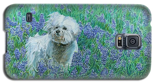 Bichon In The Bluebonnets Galaxy S5 Case