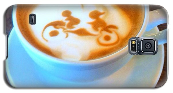 Bicycle Built For Two Latte Galaxy S5 Case by Susan Garren