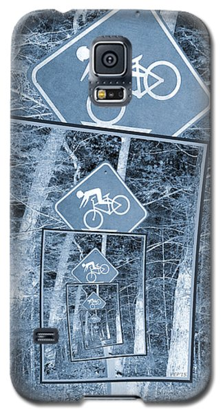Bicycle Caution Traffic Sign Galaxy S5 Case by Phil Perkins